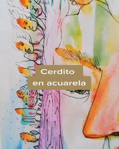 Litca(@litca.art) on TikTok: Amigos, no comida #artista #10kartist #animalover #acuarela #sketchbook #foryou #parati Artwork, Design, Watercolor Painting, Friends, Artists, Food, Work Of Art, Auguste Rodin Artwork