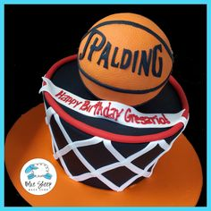 Basketball Net Birthday Cake – Blue Sheep Bake Shop