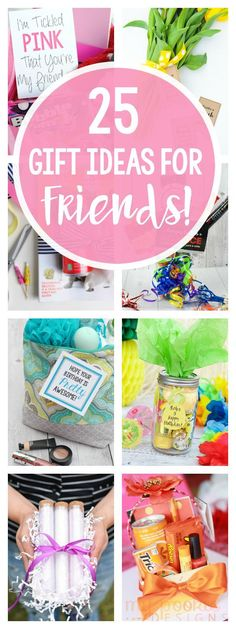 Geschenk Beste Freundin – 25 Gifts for Friends – Fun-Squared 25 Gifts for Friends – Fun-Squared Source by busymomshelpe Birthday Gifts For Best Friend, Birthday Gifts For Women, Fun Gifts For Women, Cool Birthday Gifts, Cute Best Friend Gifts, Birthday Ideas For Friends, Homemade Birthday Presents, 25th Birthday Ideas For Her, Diy Best Friend Gifts