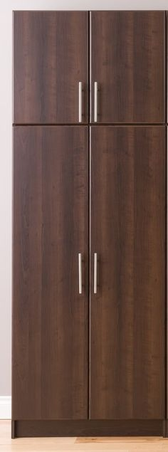 Prepac Elite Espresso 2PC Tall Laundry Garage Utility Storage Cabinet