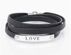 For skinny wrists. A custom made personalized leather triple wrap bracelet, that combines flat folded leather with a twist on the leather bracelet trend.