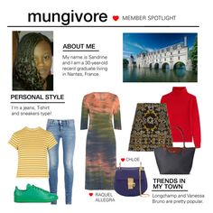 """Member Spotlight: Mungivore"" by polyvore ❤ liked on Polyvore featuring STELLA McCARTNEY, adidas, Topshop, Vanessa Bruno, Longchamp, Raquel Allegra, Chloé and MemberSpotlight"