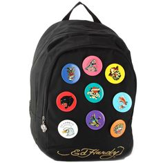 NEW Ed Hardy Black Scarlet Mesh Butterfly Backpack