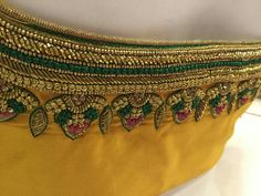 Blouse designs Brocade Blouse Designs, Wedding Saree Blouse Designs, Pattu Saree Blouse Designs, Designer Blouse Patterns, Lehenga Blouse, Hand Work Blouse Design, Simple Blouse Designs, Kurti Embroidery Design, Zardozi Embroidery