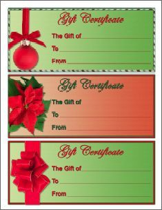 1000 images about gift certificates on pinterest gift for Homemade christmas gift certificates templates
