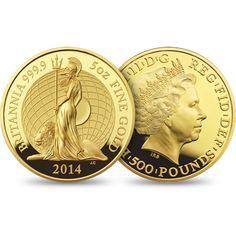 The Britannia 2014 Five Ounce Gold Proof Coin £7,500.00 http://www.royalmint.com/our-coins/ranges/britannia