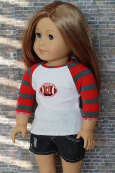 American Girl OSU Football Ohio State Red Gray by Closet4Chloe, $9.00