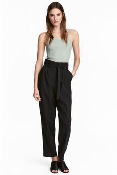 Pantalón amplio - Negro - | H&M ES 1
