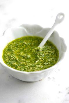 Making the Tastiest Greenest Basil Pesto Recipe