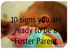 Ten Signs You Are Ready to be a Foster Parent