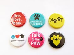 Dog Magnets Button magnets Kitchen Magnets gift by KellysMagnets Peace Love Dogs, Peace And Love, Gifts For Dog Owners, Dog Lover Gifts, Diy Magnets, Dog Crafts, Stocking Stuffers, Cleaning Wipes, Gift Wrapping