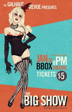 Burlesque Poster. by Annie Wu., via Flickr