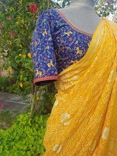 Banaras Sarees, Bandhani Saree, Designer Sarees Wedding, Saree Wedding, Indian Attire, Indian Wear, Sari Design, Designer Blouse Patterns