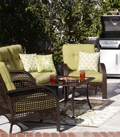 Create The Perfect Patio For Entertaining With Outdoor Living Room Style Furniture