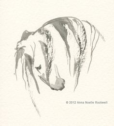 Andalusian Horse Art Original Watercolor Painting by annarockwell, $85.00.