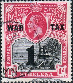 St Helena 1919 War Tax SG 88 Fine Used SG 88 Scott MR2 Other Stamps for collectors Here: