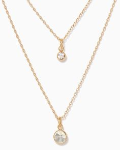 charming charlie | Two Jewels Necklace | UPC: 410007173735 #charmingcharlie