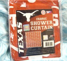 "super fast free shipping! Texas Longhorns Officially Licensed Fabric Shower Curtain 72 x 72"" NIP 