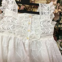 Lace baby gown