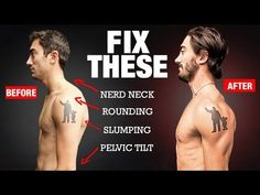 (664) How to Fix Your Posture in 4 Moves! (PERMANENTLY) - YouTube