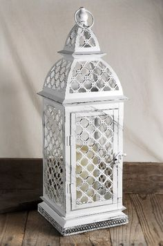 Battery Operated Flickering Candle Lantern White 17 w/remote $19.99 each / 4 for $15 each