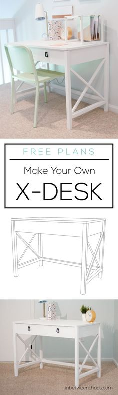 X Desk Plans | http://inbetweenchaos.com
