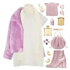 """""""snow princess"""" by timeak ❤ liked on Polyvore featuring The Elder Statesman, Laurence Dacade, Hermès, Dolce&Gabbana, Tom Dixon, LMNT, Eugenia Kim and Forever 21"""
