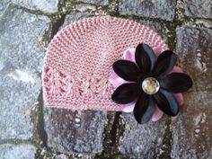 Black and Baby Pink Lily Clip attached to a SMALL by RBBoutique, $9.00