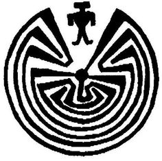 """""""The-man-in-the-maze"""" is a very popular design that was originally created as an illustration of an emergence story by the Tohono o'odham or Papago Indians of the Central Valley in Arizona. It is significant of life's cycles and eternal motion and also of the choices we are always confronted with. Correct choices lead us to harmony with all things, no matter how long & hard the road can get. Utilized by Hopi silversmiths as a way to showcase their high quality & technique."""