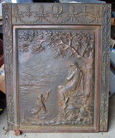 iron fireplace cover. Antique Victorian Figural Nouveau Cast Iron Fireplace Surround  Summer Cover fireplace surround with summer cover cast iron