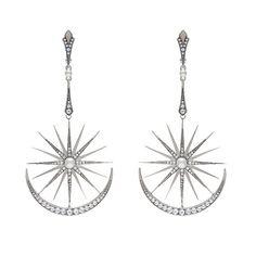 "Earrings ""Jasmine"" silver 925 pearls  colorless topazes  @axenoff by axenoffjewellery"