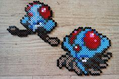 072 Tentacool 073 Tentacruel - Perler Beads by Vicsene