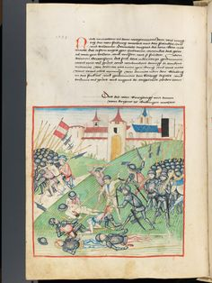 Bern, Burgerbibliothek, Mss.h.h.I.1, f. 262 – Diebold Schilling, Amtliche Berner Chronik, vol. 1