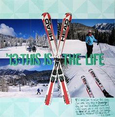 Cute Idea with Skiing....Mix it up!  @ Two Peas in a Bucket