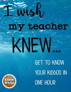 """I wish my teacher knew"" free download."