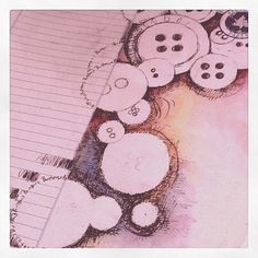 my button obsession on paper
