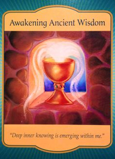"""Our card for today, Friday, April 22nd, is taken from the Gateway Oracle Cards – Awakening Ancient Wisdom – """"Deep inner knowing is emerging within me."""" As you know by now, I have been listening to …"""