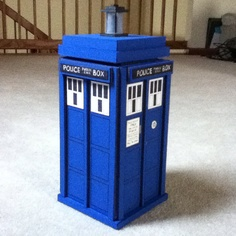 My super secret Christmas gift! A handmade tardis to keep my new seasons of Doctor Who in.