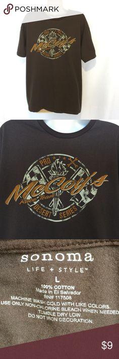 4d8d9344 Men's SONOMA Life & Style Racing T-Shirt - Size L McCoy's Desert Series