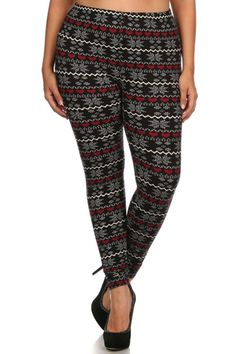 Pixel Snowflake Love Design Plus Size Leggings – Niobe Clothing