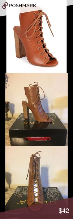 "Gorgeous Lace Up Booties Cute lace up heeled booties. Brand new with box and perfect for any occasion! Heel is about 4"" but they are actually comfortable. boutique Shoes Ankle Boots & Booties"