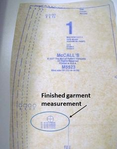 Finish Garment Measurements