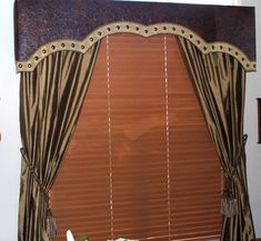 leather window treatment