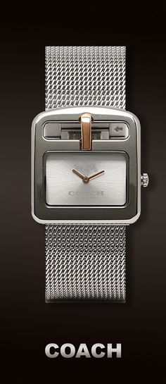 Coach Ladies Duffel Buckle Analog Dress Quartz Watch. Available at #Brandinia      www.Brandinia.com