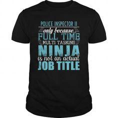 POLICE INSPECTOR II Ninja T-shirt T-Shirts, Hoodies (19.95$ ==► Shopping Now!)