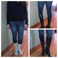 How to wear capris in the winter. It's easier to put your boots on!