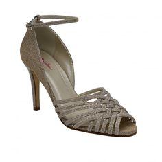 Constance Gold Metallic Lattice Sandal