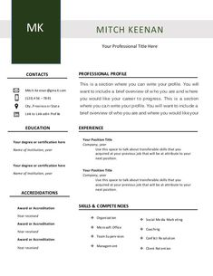 Easy to customize resume template! Only $5.99 ! Professional Profile, Resume Templates, Writing, Words, Classic, Easy, Design, Derby, Cv Template