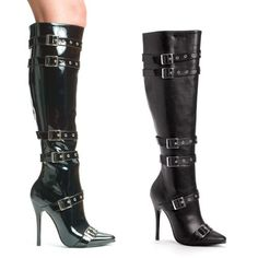5 inch Heel Knee High Boot Women's Size Shoe With Buckles And Inner Zipper. http://www.amazon.com/dp/B000AUI45I/?tag=icypnt-20