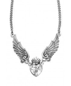 King Baby - 'Crowned Heart with Wings' Necklace #designer #Mensjewellery